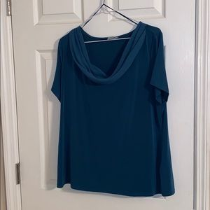 Jacqueline Smith Scoop Neck Green Blouse XL